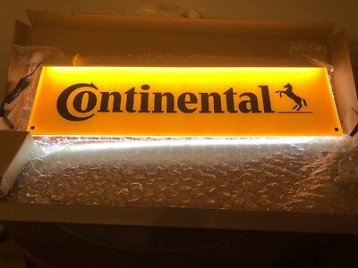 Lighted Continental Tire Sign 2-sided LED NIB