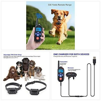 VSOO Dog Training Collar PES002, 100% Waterproof and Rechargeable Dog Shock Coll