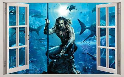 Aqua-Man 3D Window Decal Wall Sticker Home Decor Art Mural Super Hero J1311
