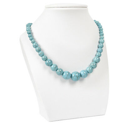 Beautiful 6-14mm Turquoise Round Beads Necklace 18INCH