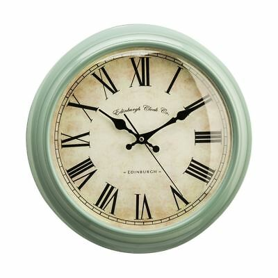 Vermont Wall Clock (Green) Sage Traditional Design Antique Look Roman Numerals