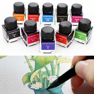 Non-Carbon Ink Fountain Pen Ink Novelty 25ml 10 Colors Writing Student
