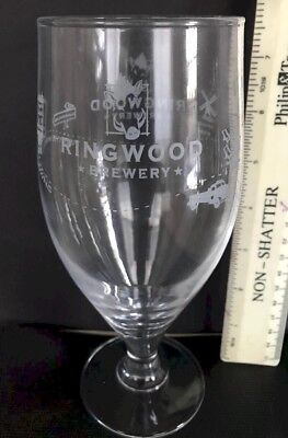 Ringwood of Hampshire Brewery Branded half pint Beer Glass only £5.95 inc P/&P