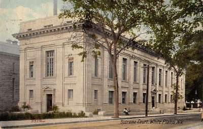White Plains New York Supreme Court Street View Antique Postcard K431560