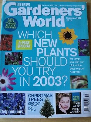 Gardeners' World Magazine Dec 2002 Plants To Try Christmas Trees Kim Wilde