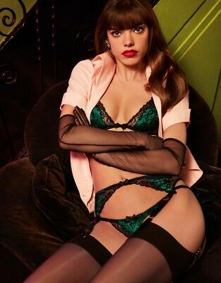 RARE AGENT PROVOCATEUR Green and Black Phyllis Thong NWT -  55.00 ... 122e4ed80