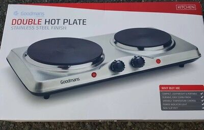 goodmans hot plate. double hot plate. hot plate. cooking hobs. portable hobs