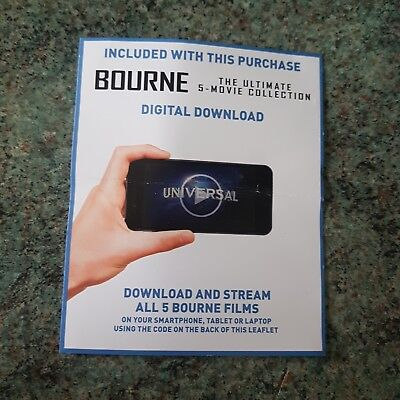 Jason Bourne The Ultimate 5 Movie Collection In Hd . Uk Ultraviolet Uv Code Only