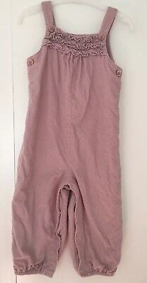 Toddler Girl's The Little White Company Corded Dungarees - Age 18-24 Months