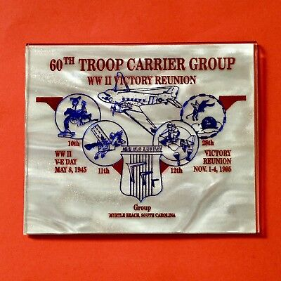 60th Troop Carrier Group WWII Reunion Myrtle Beach SC Card Magnet 10 11 12 28