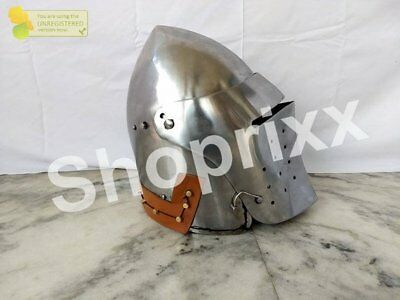 2MM Medieval Italian Bascinet Helmet armour SCA Armor fighting larp armor Helmet