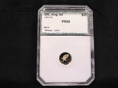 1982 Cameo Proof British Virgin Islands $25 Gold **BEAUTIFUL PROOF GOLD COIN!**