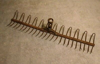 Antique Rake Head - (unique vintage shabby farm craft/decor)