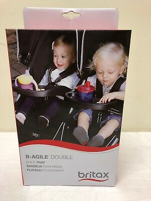 Britax B-Agile Double Child Tray for Stroller S910000, Black, Brand New