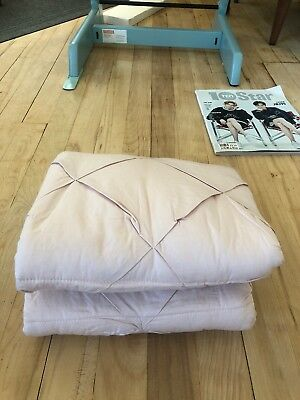 ***STOKKE Luxurious Quilted Cover in 100% Fine Cotton Percale Rose NEW***