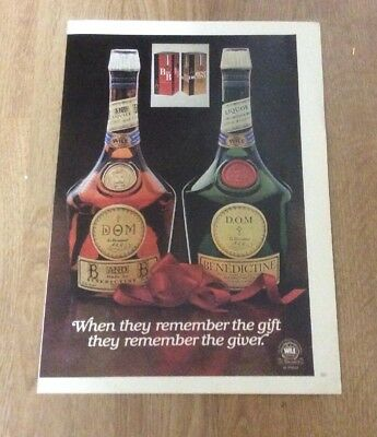 1977 B and B Benedictine liqueur bottle photo vintage print ad