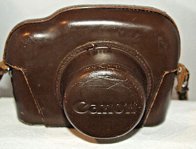 Canon P Rangefinder Camera Ever-ready Leather Case and Strap