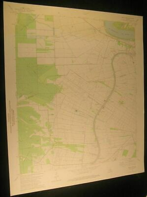 Belle Rose Louisiana Sweet Home Lula 1975 vintage USGS original Topo chart map