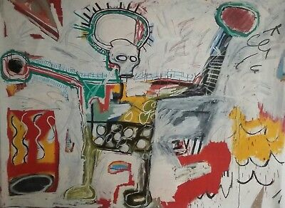 """BOOM For Real"" On Canvas By Jean Michel Basquiat 12x18 Framed Print"