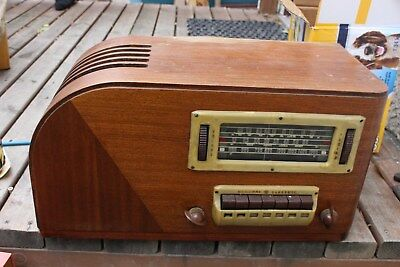 Vintage 1939 GE General Electric Wooden Radio Model H-640 Push Button Rare
