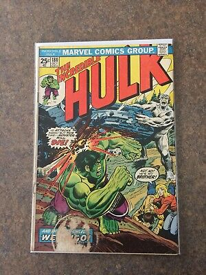 Incredible Hulk # 180 Marvel Value Stamp intact - 1st Wolverine cameo Low Grade!