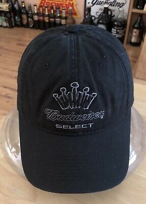 2563568c85c0a Budweiser Select Beer Baseball Cap Hat ~Logo~ New Without Tags. Black. Cool