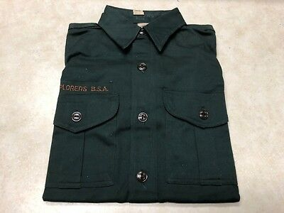 Vintage Boy Scout / Explorer Scout Uniform Shirt - New W/Tags - Size 12 1/2 Regu