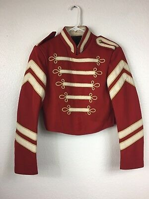 Vtg Retro Red Band Uniform Jacket Sgt Peppers Halloween Beatles size small