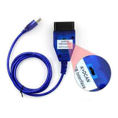 BMW USB - OBD K + Dcan Diagnostic Cable Switched INPA DIS SSS NCS Coding (L149)