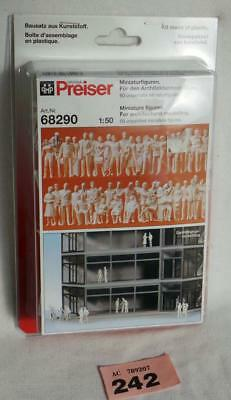 PP242 Preiser 68290 box of 60 unpainted figure 1/50 scale