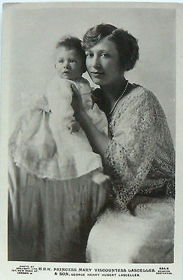 Postcard.royalty.hrh Princess Mary Viscountess Lascelles And Her Son George Rppc