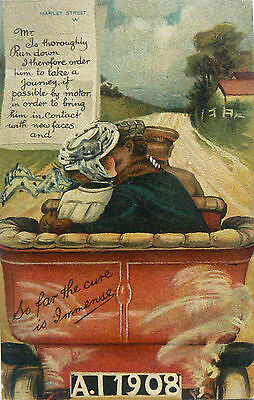POSTCARDS.COMIC.THE CURE FROM HARLEY STREET.EARLY 1900's