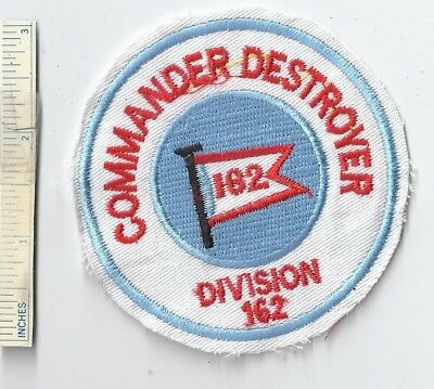 Vietnam War US Navy COMMANDER DESTROYER DIV 162 Shoulder Patch USN Nam Division