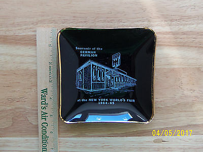 1964-1965 New York World's Fair Rare Glass Tray Souvenir Of The German Pavilion
