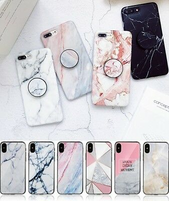 Shockproof Marble TPU Hard Back Gel Case Cover For Apple iPhone X XS XR 7 8 Plus