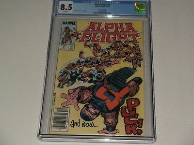 """Alpha Flight #5 CGC 8.5 NEWSSTAND """"Canadian"""". Puck cover.1st series.SAVE 💲 HERE"""