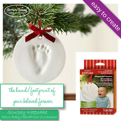 NEW Sculpey Keepsake - Oven Bake Clay - Delux BABY HANDPRINT Ornament -FREE POST