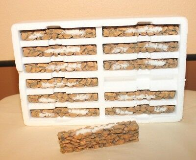 Dept 56 Village Accessory - 12 piece Stone Wall - 52629 - with box