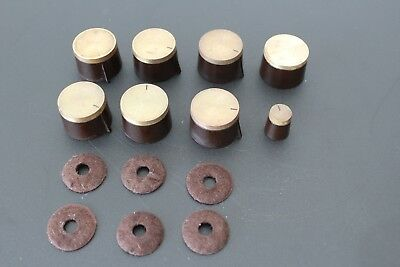 8 All Original The Fisher Tube Integrated Knobs with Original Felts