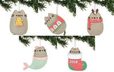 Gund - Pusheen 2018 PVC Christmas Ornament Assortment - 5 different Ornaments