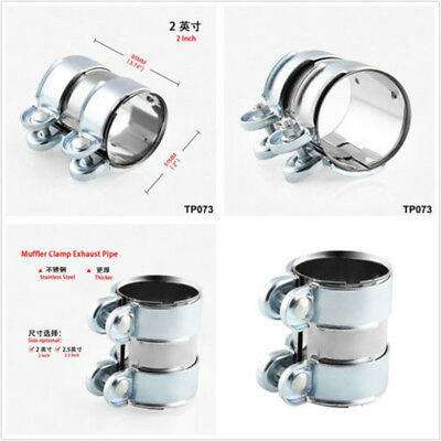 """1 Pcs 2""""Stainless Steel Car SUV Exhaust/Downpipe/Catback/Muffler Pipe Band/Clamp"""