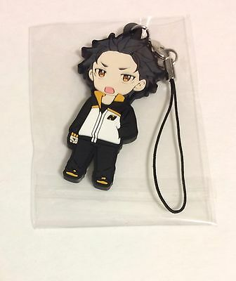 Re:zero Re:life, Subaru Natsuki One Sided Rubber Phone Charm, Anime, Nwob