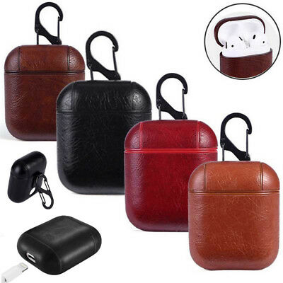 AirPods Case Protective Genuine Leather Holder Bag For Apple Air Pod Accessories