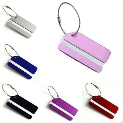 Aluminium Luggage Tags Suitcase Label Name Address ID Bag Baggage Tag Travel New