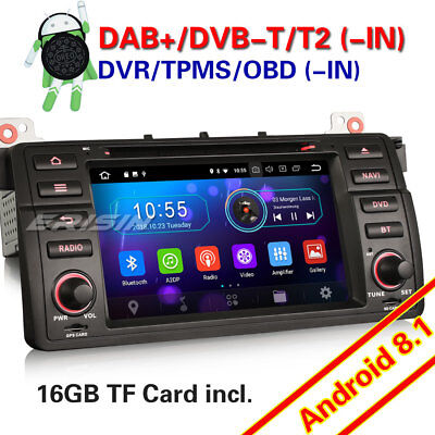 Android 8.1 GPS Autoradio WiFi DAB+ BMW 3er E46 M3 318 320 MG ZT Rover 75 DTV-IN