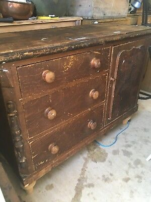 victorian kitchen cupboard And Drawers