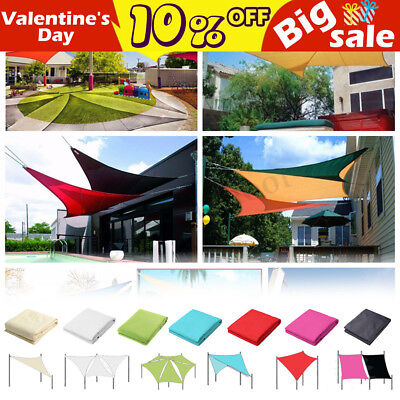 300D UV Block 4 Shapes Sun Shade Sail Waterproof Awning Outdoor Canopy Garden