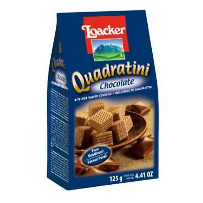Loacker Chocolate Quadratini Wafer Biscuits - 125g (Pack of 12)