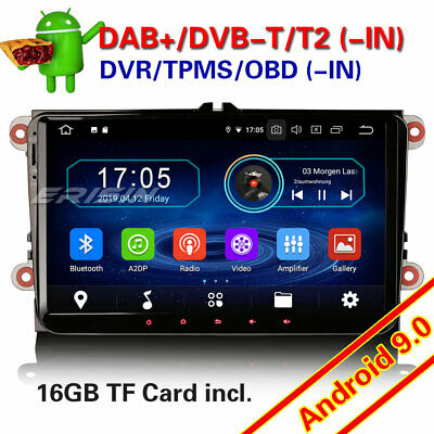 "9"" Android 8.1 DAB+GPS Car Radio For VW Golf Polo Amarok Tiguan Jetta Skoda Seat"