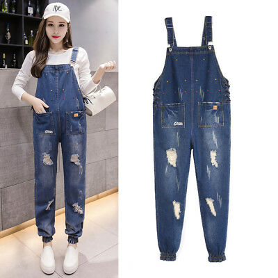 Maternity Jumpsuits Pants Jeans Denim Trousers Rompers Skinny M/L/XL/2XL/3XL